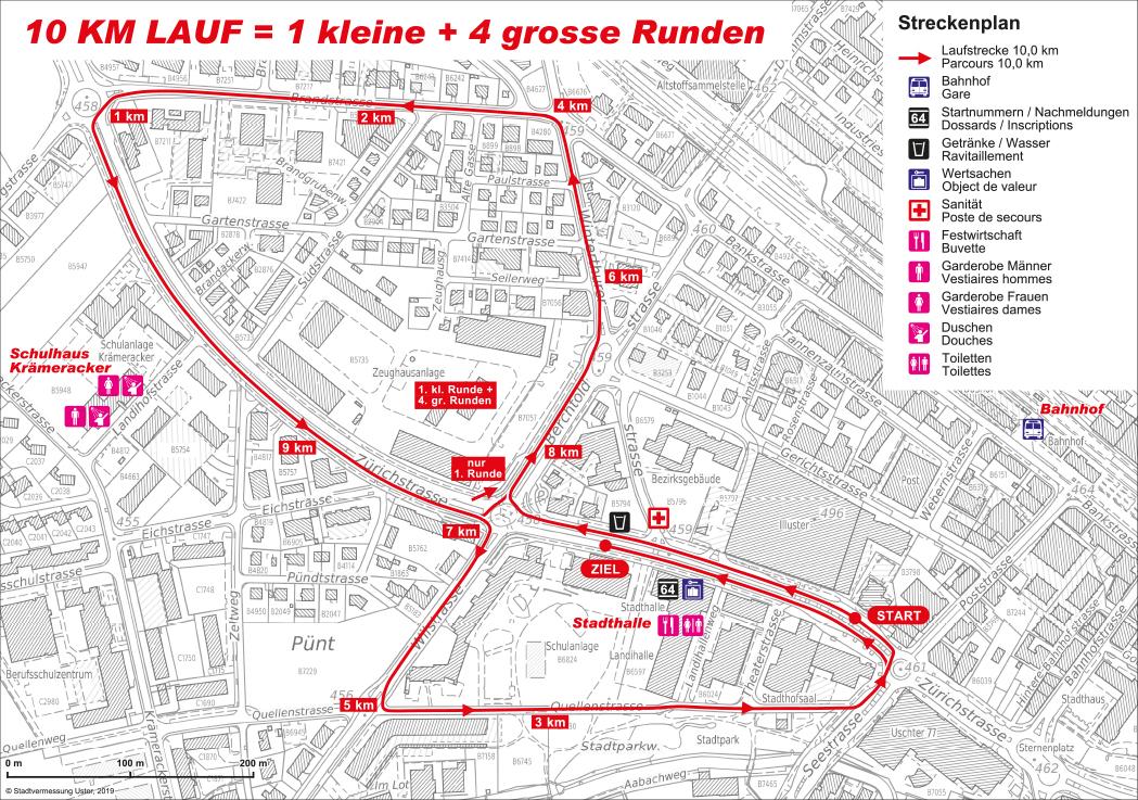 Strecke SM 10km Strasse